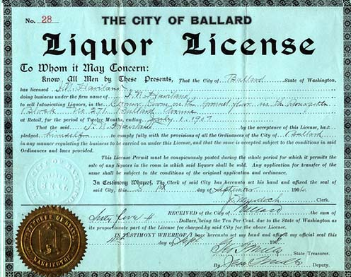 Process to obtaining a liquor license for commercial bars