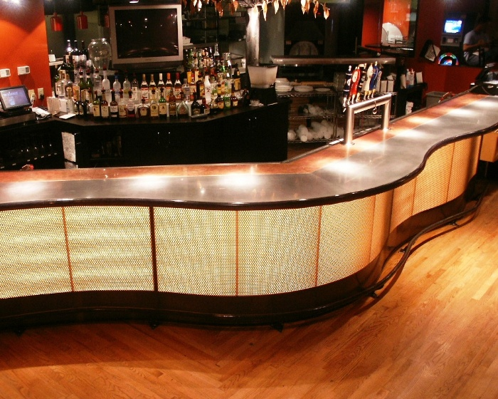 Stainless steel for bar top counters